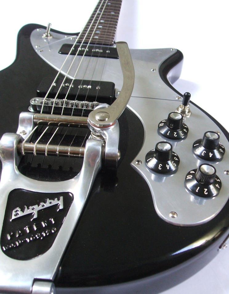 Guitarra dise+¦ada y construida por Galasso Guitars